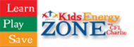 Kids Zone icon educates children on energy